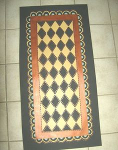 FRENCH COUNTRY FLOORCLOTH  hand painted rug by countryfloorcloths, $100.00