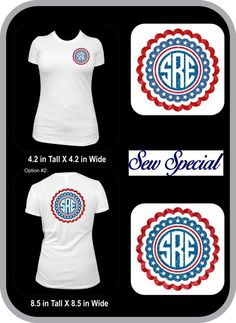 Monogram 4th of July short sleeve shirt by sewspecialonline