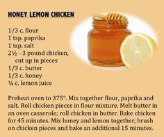 This Honey Lemon Chicken recipe is from Minnesota Beekeepers Association best recipes, 1950s. (From Minnesota State Fair: An Illustrated History, by Kathryn Strand Koutsky & Linda Koutsky, 2007.)