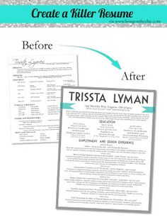 Resume tips and other great graphic ideas. #branding #marketing #layout