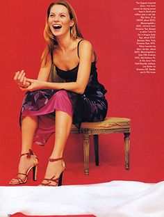 Vogue Editorial February 1997 - Kate Moss by Wolfgang Tillmans - FASHION INDUSTRY ARCHIVE
