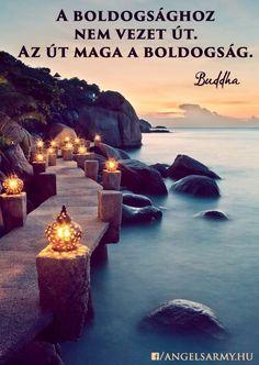 Buddha idézete a boldogságról. A kép forrása: Angels' Army
