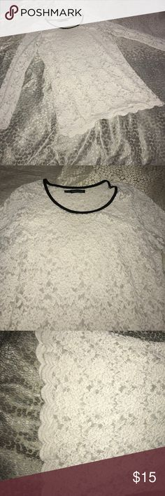 Maurice's lace top size 0 plus Cream lace top by Maurice's. Good condition in used condition. Size 0 plus. Maurices Tops Tees - Long Sleeve
