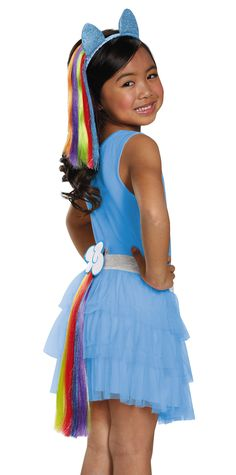 Accessorize your My Little Pony costume with this colorful accessory! Pin this tail to your costume and you'll be ready for a magical time! Item features: One tail                                                                                                                                                                                 More