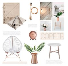 """""""Copper mood"""" by helenevlacho ❤ liked on Polyvore featuring interior, interiors, interior design, home, home decor, interior decorating, Iacoli & McAllister, Conran, Dot & Bo and bedroom"""