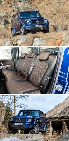 Rough on the outside, comfortable on the inside. [Mercedes-Benz G 350 d Mercedes G Series, Mercedes G Wagon, Mercedes Benz G Class, Mercedes Benz Models, Mercedes Benz Cars, Merc Benz, Jeep 4x4, Car Interiors, Car Photography