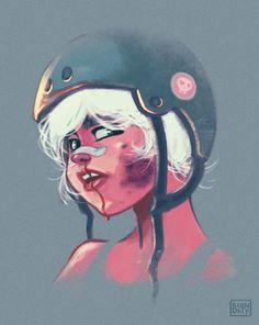 a derby dame, shell break ya. Derby Skates, Quad Skates, Roller Derby Girls, Roller Skating, Game Art, Illustration Art, Character Design, 1, Sketches