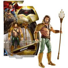 "Mattel DC Comics Batman v Superman Series 6"" Tall Figure - AQUAMAN with Trident of Neptune"