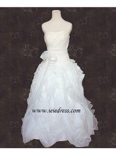 Organza Ruffle Wedding Gown A lighter version
