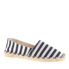 J.Crew - Printed espadrilles.  Cute AND more importantly comfortable