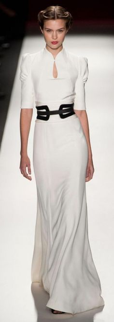 2013 Fall Carolina White long dress