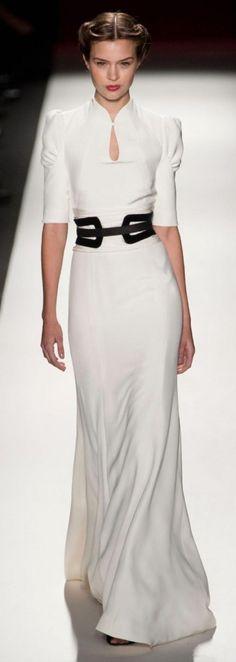 2013 Fall Carolina White long dress