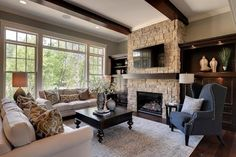 2013 Luxury Home-Inver Grove Heights - traditional - living room - minneapolis - Highmark Builders