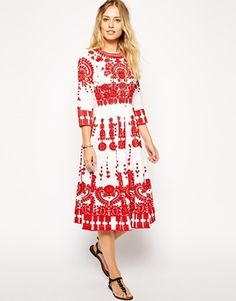 (I could shorten the sleeves)ASOS Premium Midi Dress with Heavy Embroidery