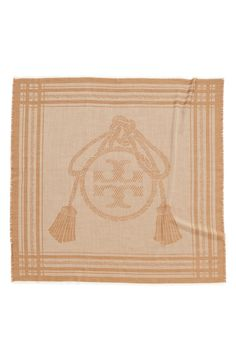 Love this Tory Burch logo square scarf.