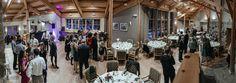 panorama wedding reception Matt Shumate Photography at Sleeping Lady Mountain resort winter