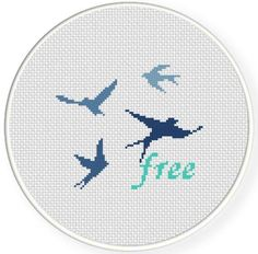 Looking for your next project? You're going to love Free Swallows Cross Stitch Pattern by designer teamembro3703945.