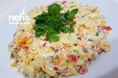Efsane Salata – Nefis Yemek Tarifleri – Vegan yemek tarifleri – The Most Practical and Easy Recipes Easy Salad Recipes, Easy Salads, Cottage Cheese Salad, Turkish Recipes, Ethnic Recipes, Salad Menu, Dinner Salads, Seafood Salad, Potato Salad
