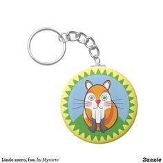 Lindo zorro, fox. Regalos, Gifts. #llavero #KeyChain