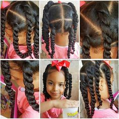 Washday 💦 part 2 style and go! Amaiya chose big 2 strand twists so we sectioned applied leave in conditioner and curly gel moisturiser… Mixed Kids Hairstyles, Childrens Hairstyles, Lil Girl Hairstyles, Girls Natural Hairstyles, Natural Hairstyles For Kids, Kids Braided Hairstyles, Princess Hairstyles, Ponytail Hairstyles, Toddler Hairstyles