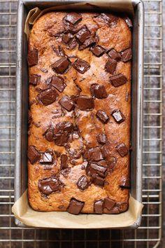 Chocolate chunk tahini banana bread   Urban Kitchen Apothecary