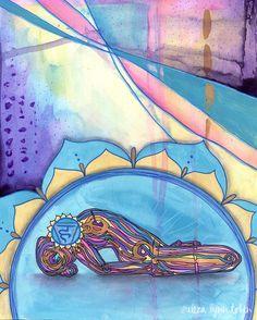 Yoga Art Throat Chakra Print