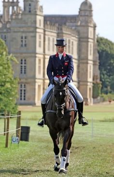 Burghley House & Horse Trials *༺✿* one of England's greatest Elizabethan houses. Equestrian Outfits, Equestrian Style, Dressage, Horse Riding, Riding Boots, Zara Phillips, Riding Breeches, English Riding, Advanced Style