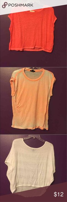 Forever 21 Shirts Bundle This includes 4 Forever 21 shirts:  Sheer pink crop top  Sheer pink shirt  Knit white short sleeve shirt  Black button crop top  The pink tops colors look a little off due to it being on a purple backdrop.  All our size medium except the white top which is a small but runs large. Forever 21 Tops Crop Tops