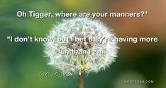 Oh Tigger, where are your manners? Manners, Tigger, More Fun, Inspirational Quotes, Life Coach Quotes, Inspiring Quotes, Inspire Quotes, Inspiration Quotes, Inspiring Words