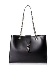 Saint Laurent Women's Classic Monogram Shopper, Black, http://www.myhabit.com/redirect/ref=qd_sw_dp_pi_li?url=http%3A%2F%2Fwww.myhabit.com%2Fdp%2FB016MQ0E6K%3F