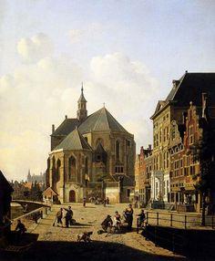 A Capricio View In A Town, Jan Hendrik Verheijen. Dutch (1778 - 1846)