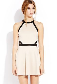 Colors: Nude and Black, Black and Black    Cutout Craze Skater Dress | FOREVER21 - 2000129463