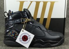 hot sale online 7b7b0 da6f0 Latest Air Jordan 8 Confetti Black and Metallic Gold-Anthracite Nike Shoes  Online, Nike