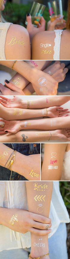 Looking for Bachelorette Party Ideas? These Flash Tattoos are the perfect way to make you and the girls sparkle AF.