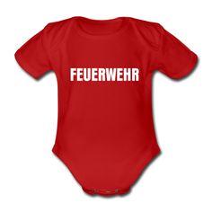 Babystrampler Feuerwehr  Jeder Junge will mal Feuerwehrmann werden, mit diesem Baby-Strampler wirds dem Kind quasi schon in die Wiege gelegt.  Der Babystrampler ist im auffälligen Feuerwehr-Rot. Der Schriftzug ist qualitativ hochwertig.    Geschenkidee Geschenk zur Geburt