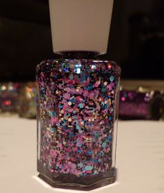 Spotted  Glitter Nail Lacquer by SparkleFactorLacquer on Etsy, $10.50