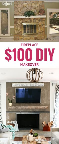 Diy concrete fireplace for less than 100 for the home diy concrete fireplace for less than 100 solutioingenieria Gallery