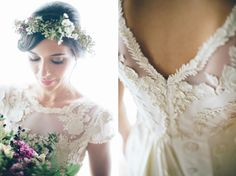 A bride wearing Temperley London for her rustic wedding in Tuscany, Italy. Photography by Leila Scarfiotti. Country Wedding Dresses, Wedding Gowns, Wedding Flowers, Wedding Hair, London Bride, London Wedding, Rustic Italian Wedding, Temperley London Dress, Dream Wedding