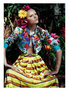 poder tropical: paloma passos by eduardo rezende for marie claire brasil september 2013 | visual optimism; fashion editorials, shows, campaigns & more!