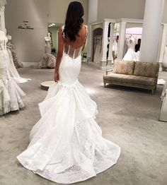 That back.. Go to  PninaTornai.com (link in BIO) to see the front of this stunning #LOVEbyPninaTornai gown! Are you in love with our affordable LOVE collection yet ?