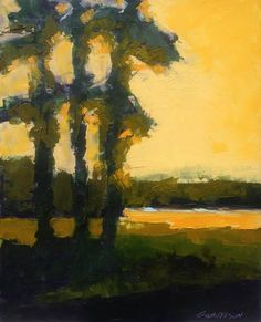 "Tall Pines, oil 10 x 8"" © Mary Bentz Gilkerson"