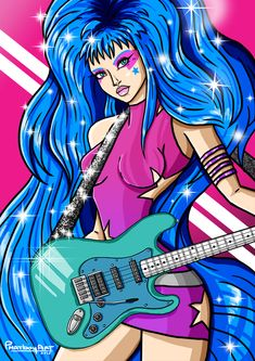 Stylized version of Jem from Jem and the Holograms.#Aja