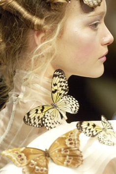 "modne: "" The Beauty Of Runway… Gemma Ward for Alexander McQueen. Gemma Ward, Butterfly Effect, Butterfly Kisses, Butterfly Wings, Madame Butterfly, Butterfly Fairy, Alexander Mcqueen, Mellow Yellow, Beautiful Butterflies"