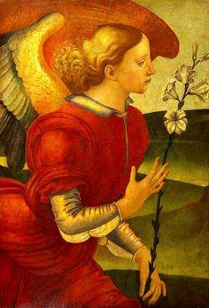 Luca Signorelli (1450-1523) The Archangel Gabriel, 1490. Em Imagem Semanal: Anjos http://arteseanp.blogspot.com