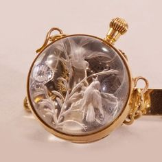 Jewelry Diamond : Image Description Rare Treasure Antique Gold & Large Rock Crystal Orb-Watch With Reverse Intaglio Antique Watches, Antique Clocks, Vintage Watches, Antique Jewelry, Vintage Jewelry, Mens Dress Watches, Automatic Watches For Men, Diamond Jewelry, Pocket Watches