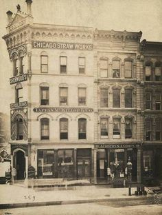 1875. SW Corner of State and Randolph.