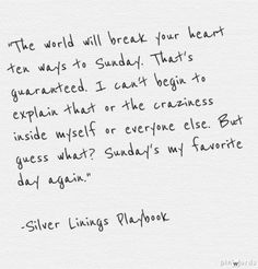 Silver Linings Playbook - Sunday