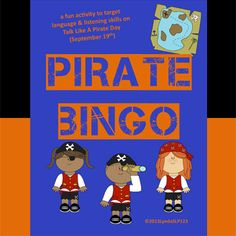 FREEBIE!!!  Fun way to target language & listening skills.   Think about using this activity on Sept 19th (Talk Like A Pirate Day!).  Created by LyndaSLP123