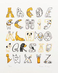 loveprintstudio: Helen Lang...doggie alphabet!