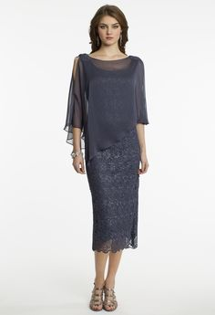 T-Length Chemical Lace Caplet Dress from Camille La Vie and Group USA